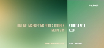 Michal Stín: Online marketing podľa Google